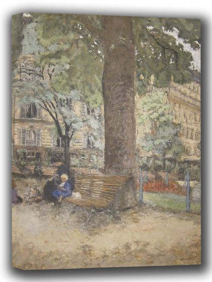 Vuillard, Edouard: The Square at Vintimille (Bench in the Parc). Fine Art Canvas. Sizes: A4/A3/A2/A1 (002200)
